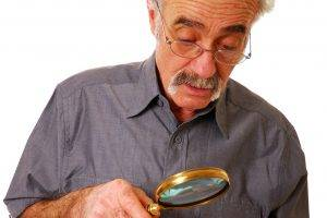 Eye doctor, Senior Man Magnifying Glass, in North Miami Beach, FL